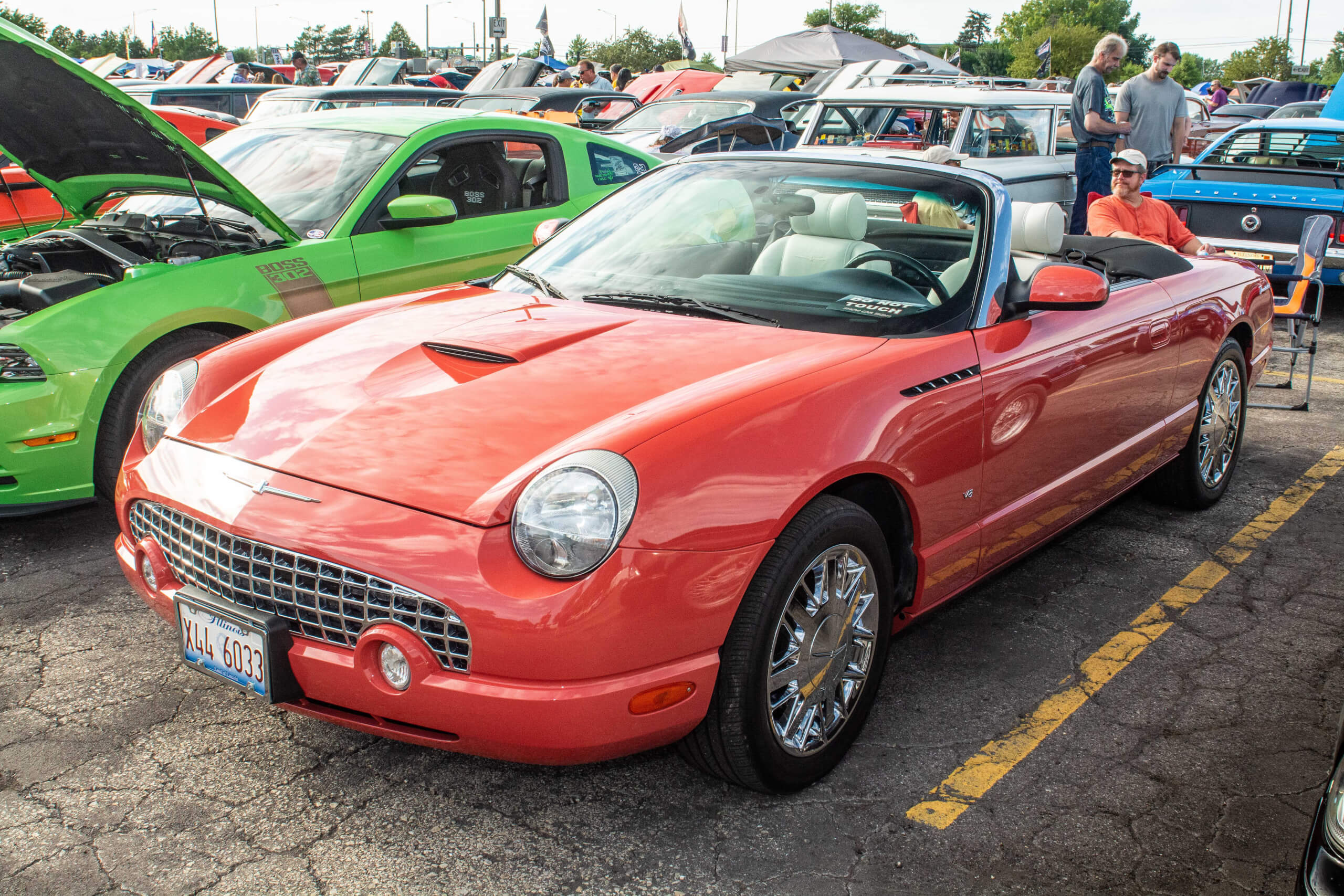 In 2002, Ford offered a limited edition '007 Thunderbird' painted Coral. This is car 577 out of 700.