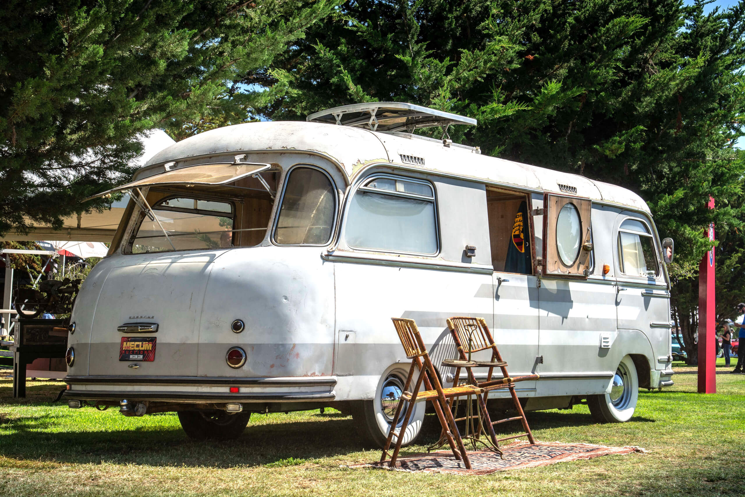 This 1955 Porsche Tempo Mikafa Sport Camper is unrestored and one of three built.