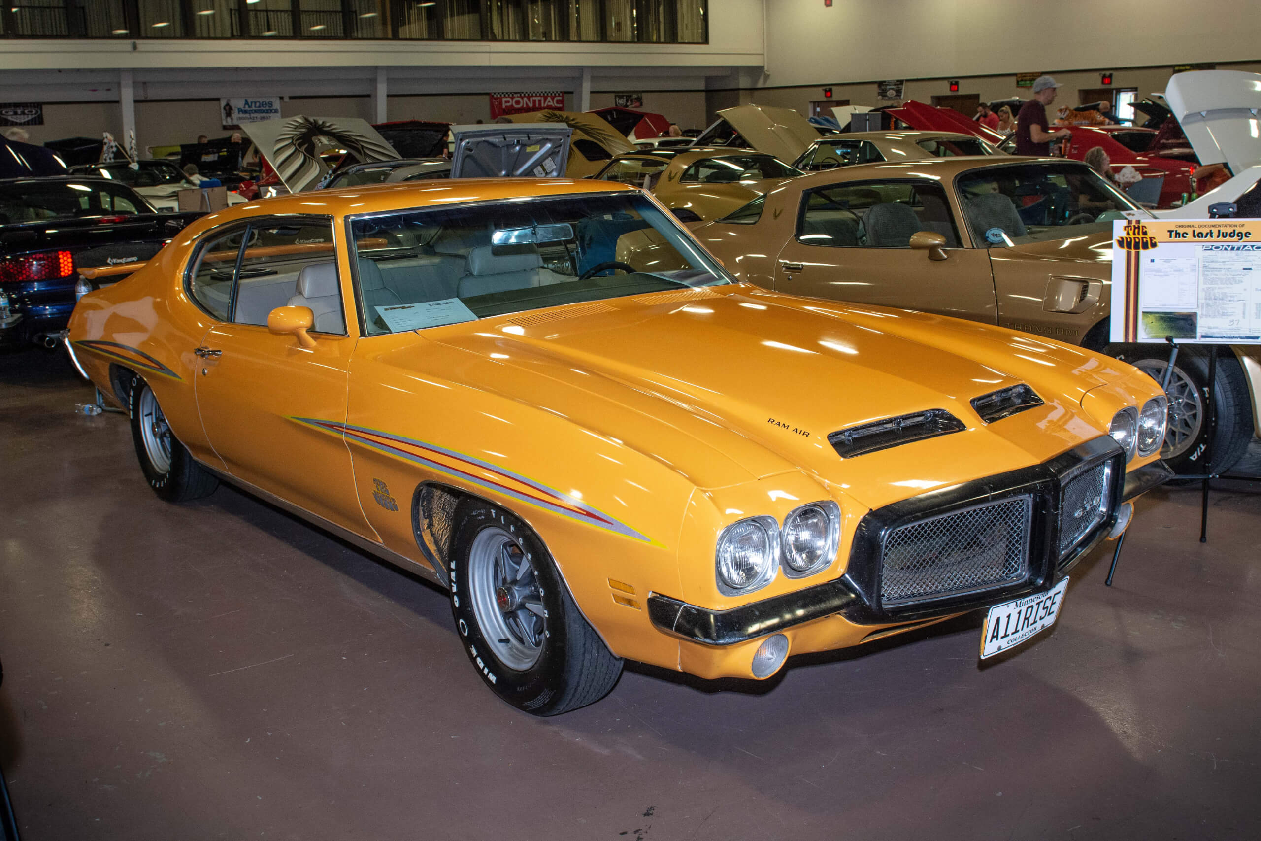 This is the last 1971 Pontiac GTO Judge ever made. It was specially ordered in Orbit Orange.