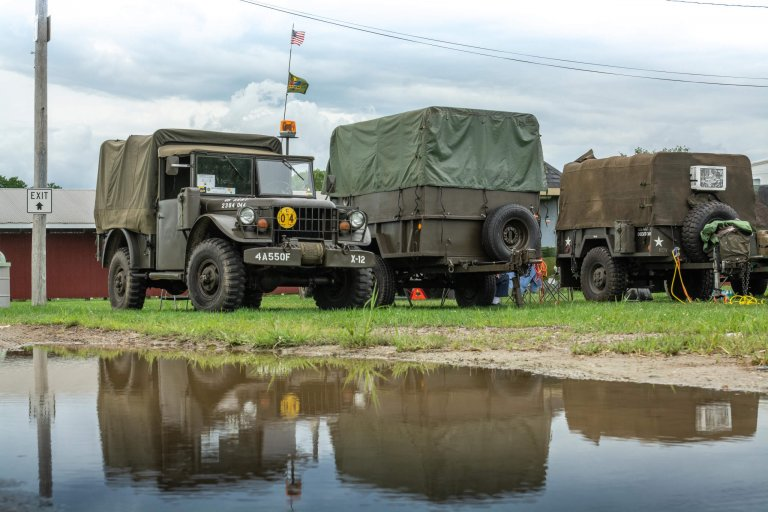 The Road to Progress: A Convoy of Vintage Military Vehicles Cross the Nation
