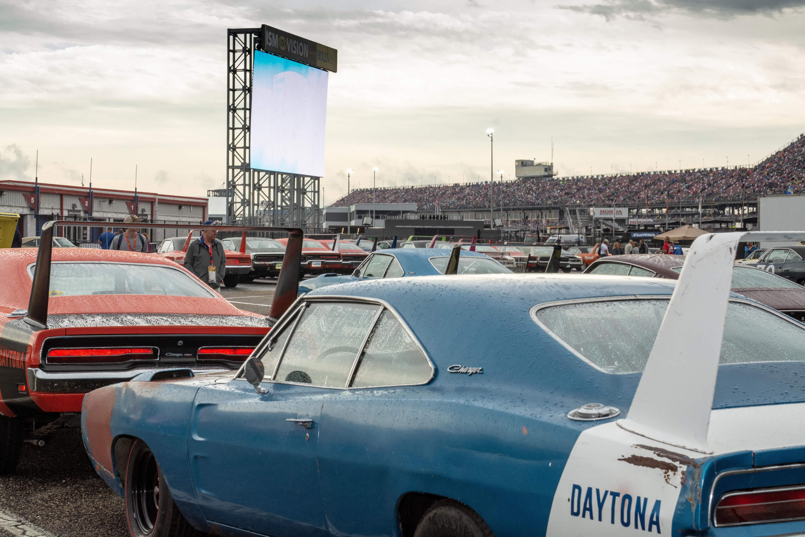 Scores of Plymouth Superbirds and Dodge Daytonas were on display at the 2019 Aero Warrior Reunion.