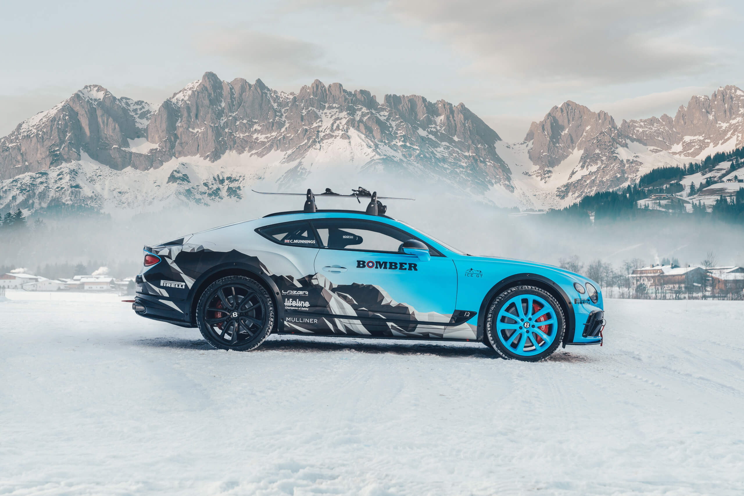 Bentley's Continental GT Ice GT will compete in the 2020 GP Ice Race in Zell am See, Austria.