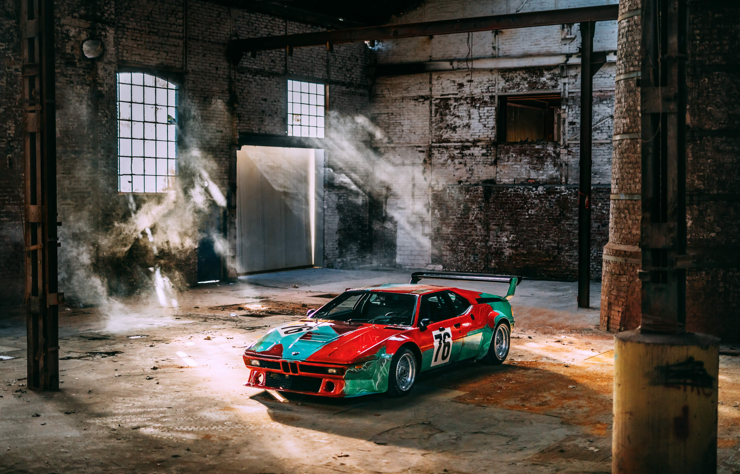 BMW's 1979 Andy Warhol M1 Art Car will be shown at the 2020 India Art Fair.