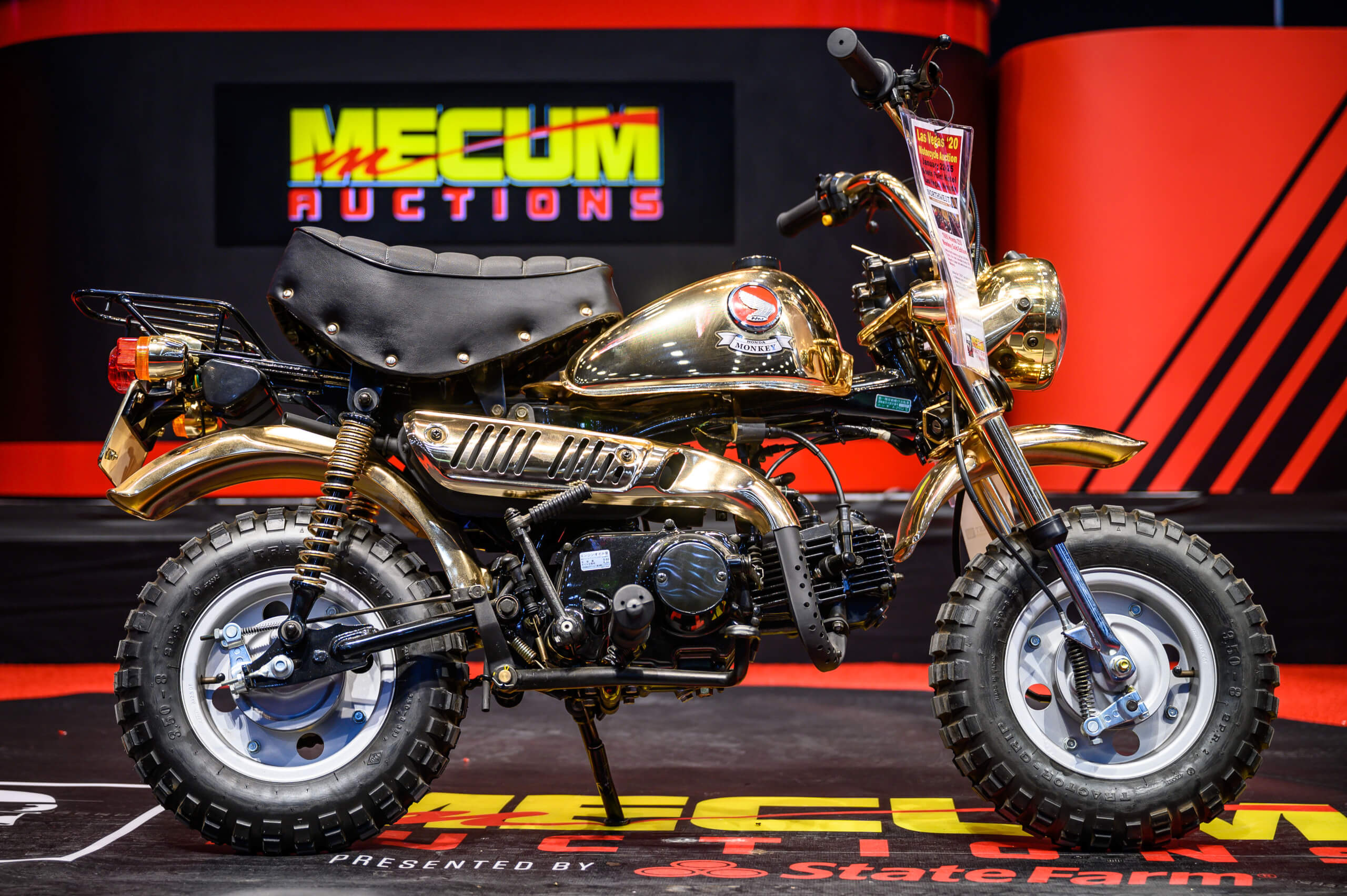Honda Monkey motorcycles were all over the 2020 Mecum Las Vegas motorcycle auction.