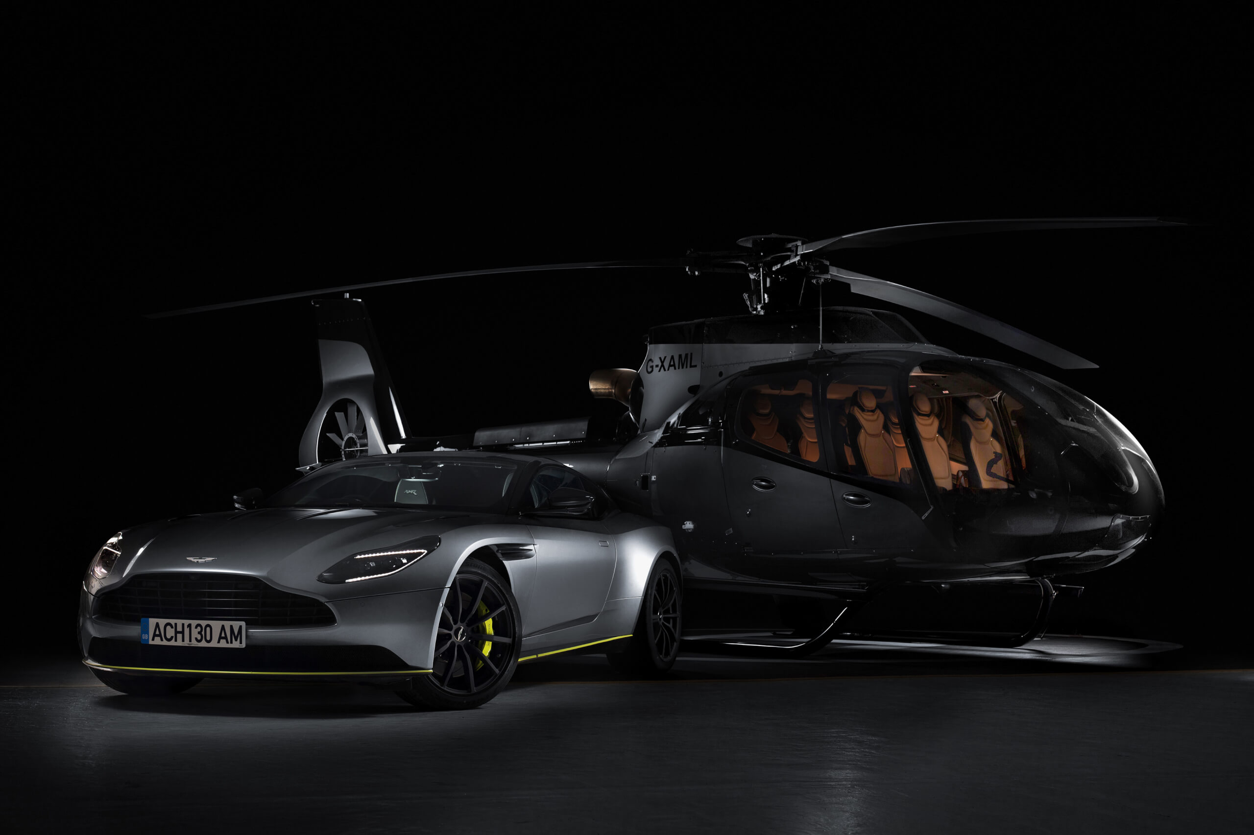 Airbus and Aston Martin have created a special helicopter.