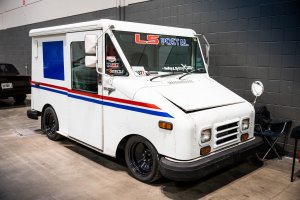 This LS-Powered Mail Truck Delivers Loads Of Fun And Big Smoky Burnouts