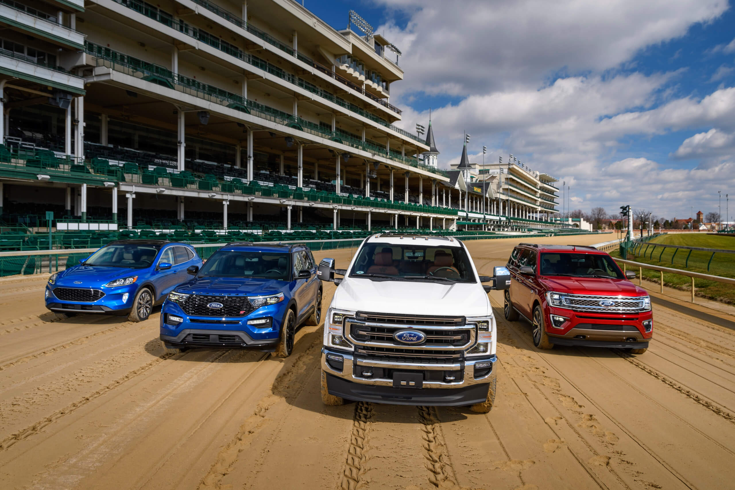The 2020 Ford F-Series Super Duty is the featured vehicle for this year's 146th Kentucky Derby, held on May 2nd. (Courtesy of Ford)